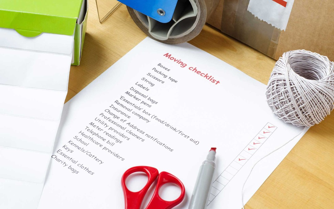 Checklist for the Moving Day