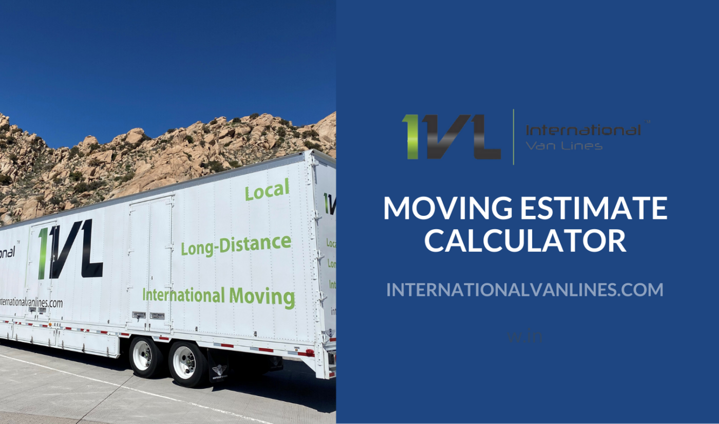 Moving Estimate Calculator for out of state moving